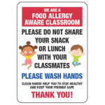School Allergy Poster